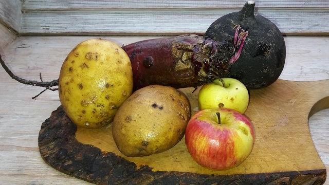 Obst und Gemüse der Saison im Januar